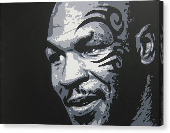Mike Tyson Canvas Print - Mike Tyson 11 by Geo Thomson