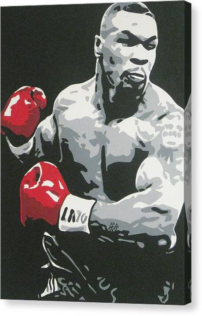Mike Tyson Canvas Print - Mike Tyson 2 by Geo Thomson