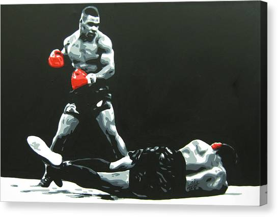 Boxing Canvas Print - Mike Tyson 5 by Geo Thomson