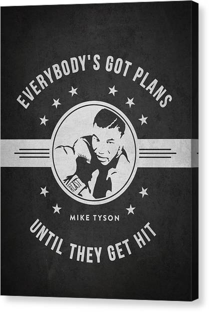 Mike Tyson Canvas Print - Mike Tyson - Dark by Aged Pixel
