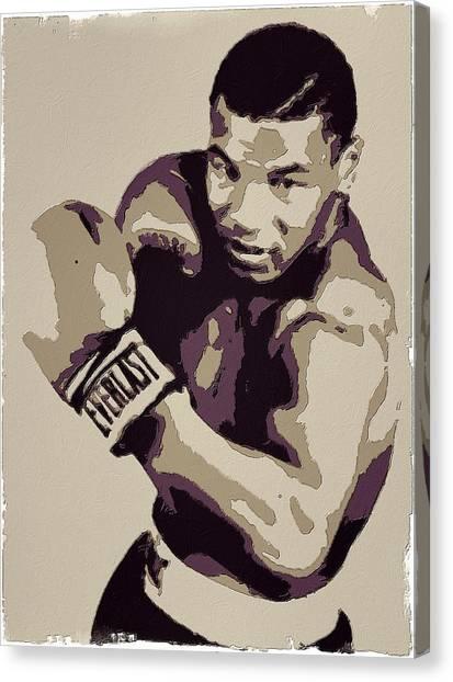 Mike Tyson Canvas Print - Mike Tyson Poster Art by Florian Rodarte