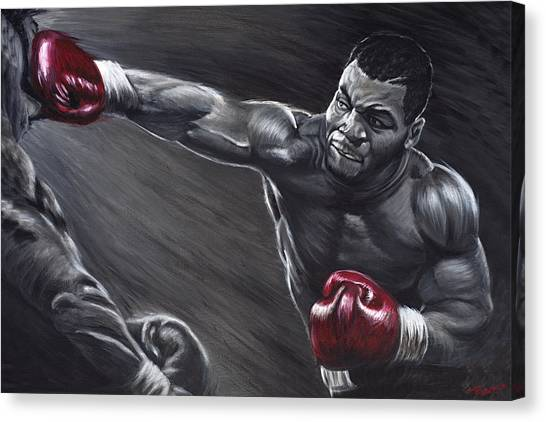 Mike Tyson Canvas Print - Mike Tyson by Travis Knight