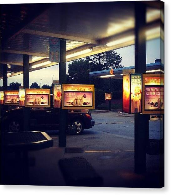 Fast Food Canvas Print - @the Drive-in by Marycruz Figueroa