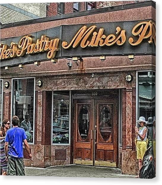 Massachusetts Canvas Print - Mike's Pastry In The Heart Of by Joann Vitali