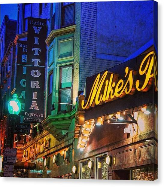 Massachusetts Canvas Print - #mikespastry  #boston #restaurant by Joann Vitali