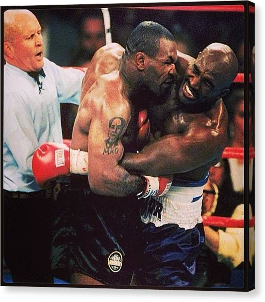 Mike Tyson Canvas Print - Mike Tyson  by Oscar Lopez