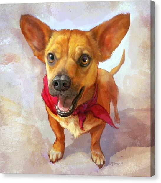 Cute Dogs Canvas Print - Milagro by Sean ODaniels