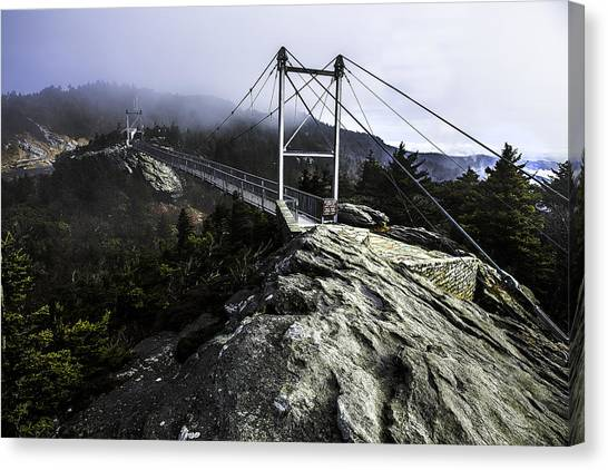 Mile High Bridge-grandfather Mountain Canvas Print