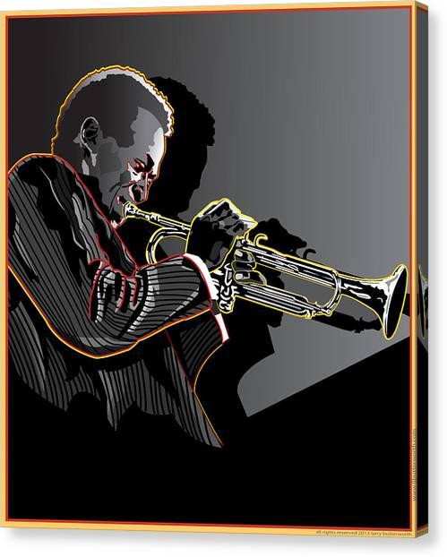 Miles Davis Legendary Jazz Musician Canvas Print by Larry Butterworth