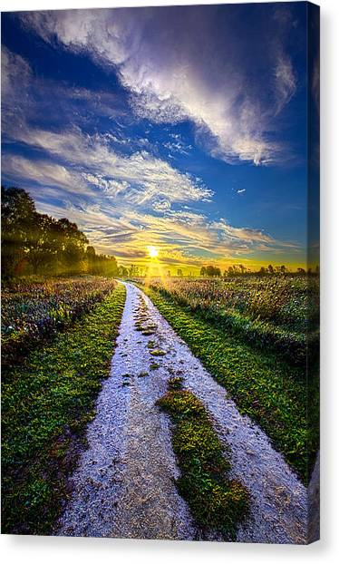 Dirt Road Canvas Print - Miles On My Heart by Phil Koch