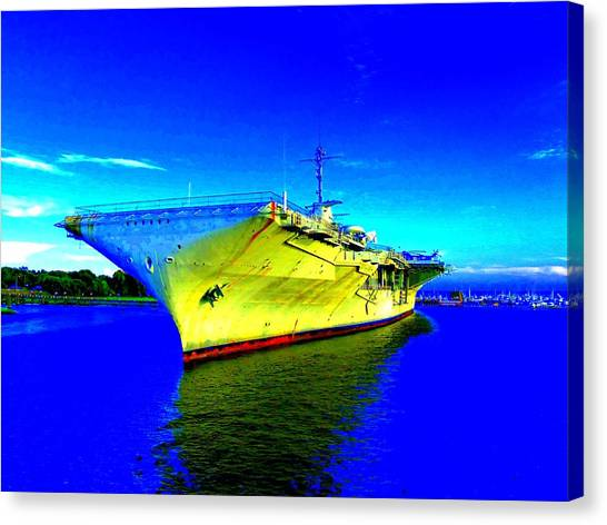 Military Ship 2 Canvas Print by Ron Kandt