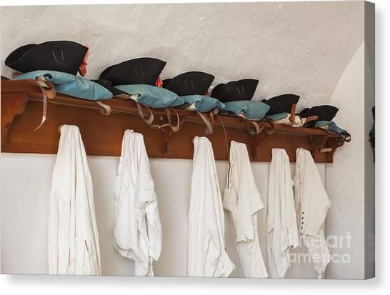 Military Uniforms In El Morro Fort Canvas Print