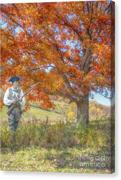 Nra Canvas Print - Militia Farmer The Right To Keep And Bear Arms by Randy Steele