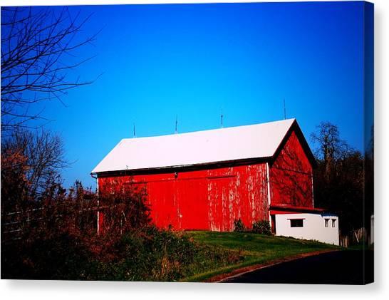 Milk House And Barn Canvas Print