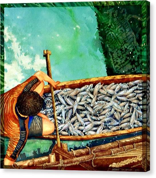 Milkfish Harvest Vers1 Canvas Print