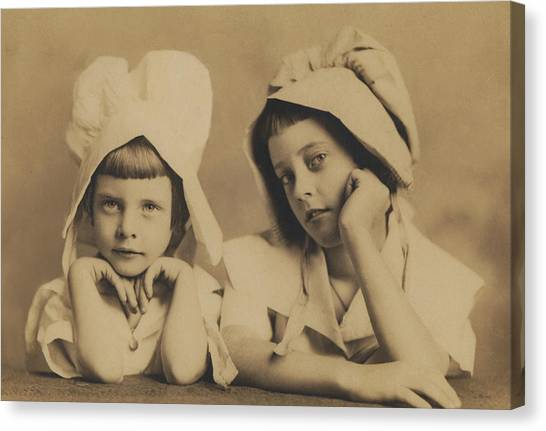 Milkmaid Sisters Canvas Print by Paul Ashby Antique Image