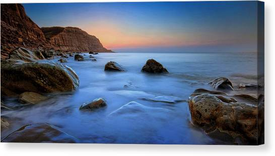 Milky Blue Canvas Print by Mark Leader