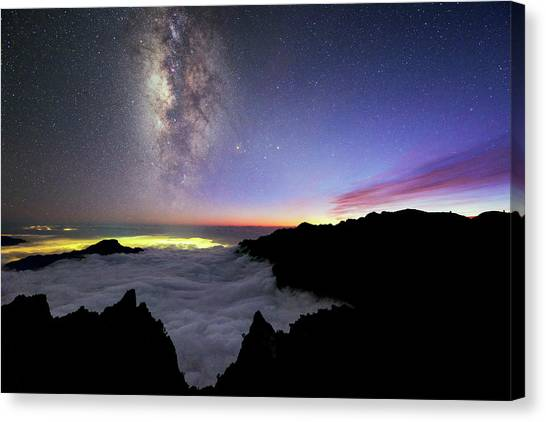 Atlantic 10 Canvas Print - Milky Way Above La Palma by Babak Tafreshi