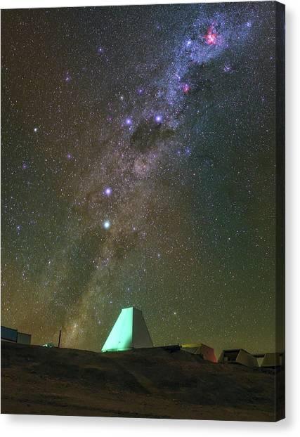 Atacama Desert Canvas Print - Milky Way And Observatory by Babak Tafreshi