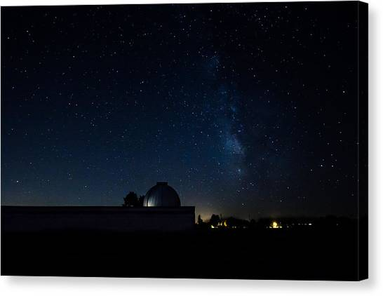 Milky Way And Observatory Canvas Print
