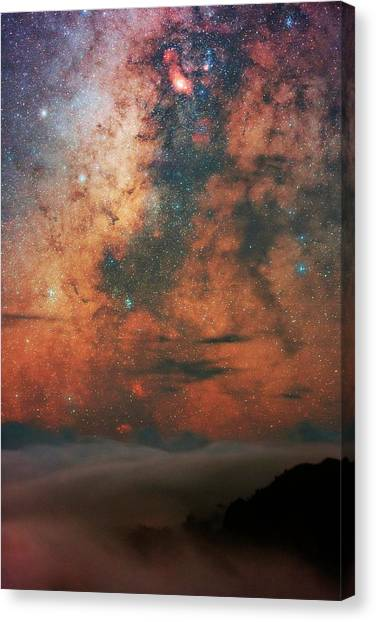 La Galaxy Canvas Print - Milky Way And Sagittarius by Babak Tafreshi