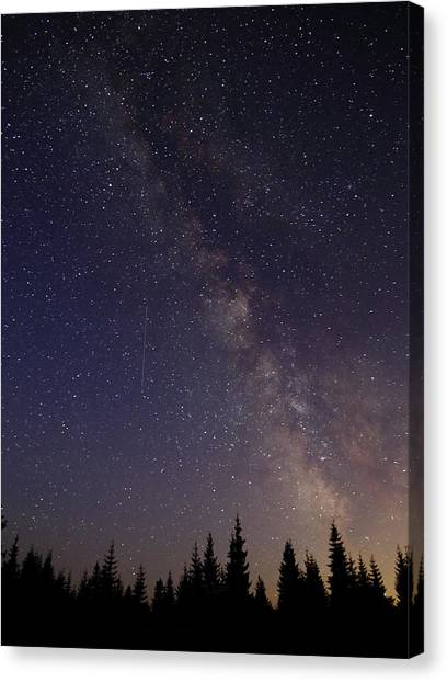 Shooting Stars Canvas Print - Milky Way by Angie Vogel
