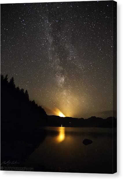 Milky Way At Crafnant 2 Canvas Print