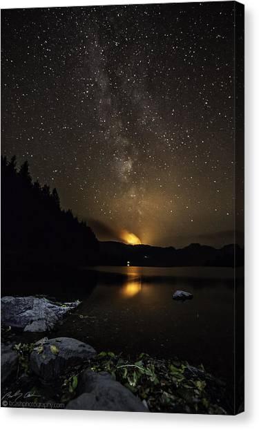 Milky Way At Crafnant Canvas Print