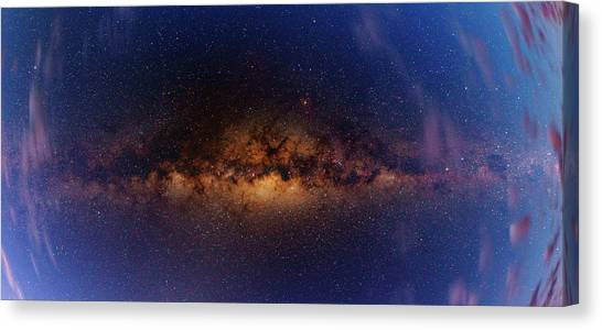 Atacama Desert Canvas Print - Milky Way At Dawn by Babak Tafreshi