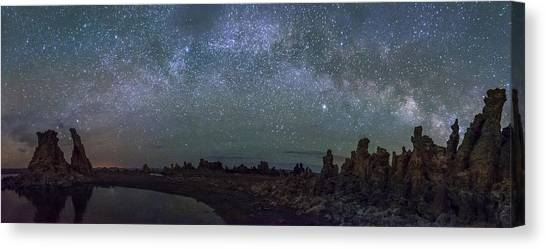 Milky Way At Mono Lake Canvas Print