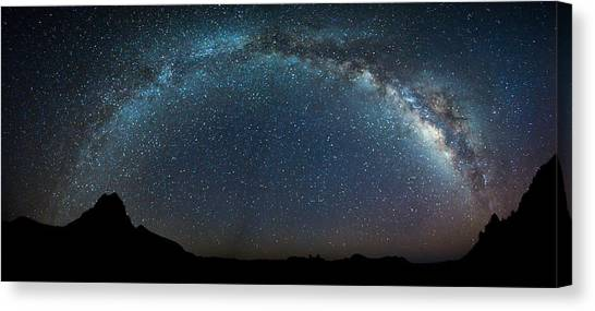 Milky Way Bow Canvas Print