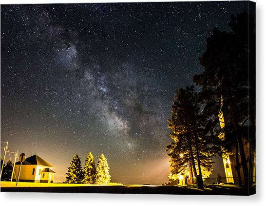 Milky Way From Oldham South Dakota Usa Canvas Print