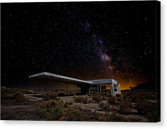 Mojave Desert Canvas Print - Milky Way Gas by Peter Tellone