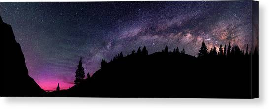 Milky Way In Grizzly Valley Canvas Print