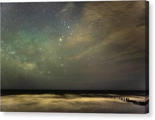 Milky Way Over Folly Beach Canvas Print