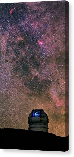 La Galaxy Canvas Print - Milky Way Over Grantecan Telescope by Babak Tafreshi