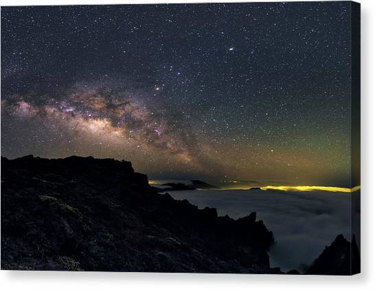 La Galaxy Canvas Print - Milky Way Over La Palma by Babak Tafreshi
