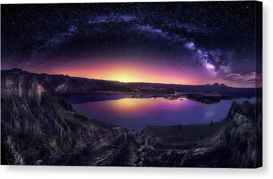 La Galaxy Canvas Print - Milky Way Over Las Barrancas 2016 by Jes?s M. Garc?a