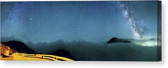 Mount St. Helens Canvas Print - Milky Way Over Mount St Helens by Walter Pacholka, Astropics
