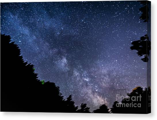 Milky Way Over Silver Springs Campground Canvas Print