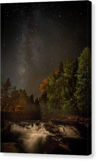 Milky Way Over The Adirondacks Canvas Print
