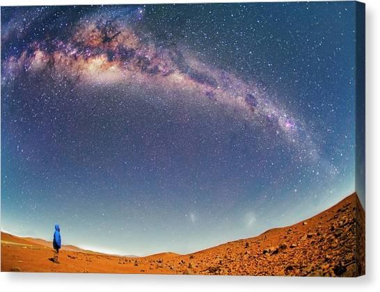 Atacama Desert Canvas Print - Milky Way Over The Atacama Desert by Juan Carlos Casado (starryearth.com)