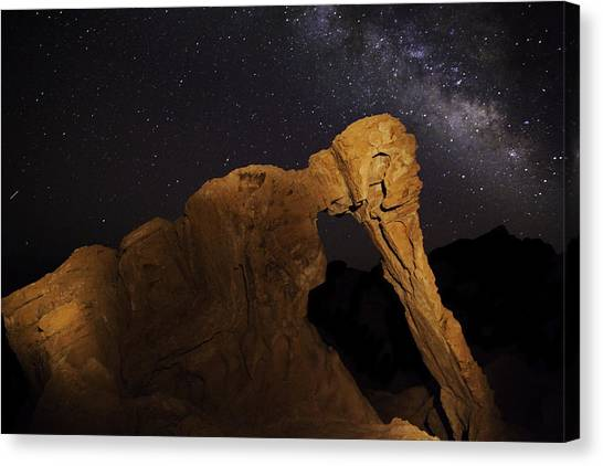 Milky Way Over The Elephant 3 Canvas Print