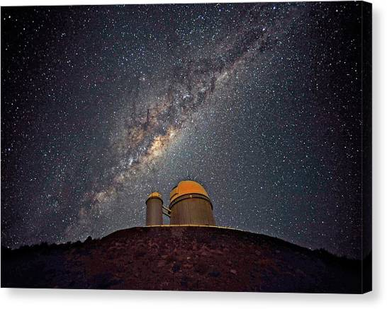 La Galaxy Canvas Print - Milky Way Over The Eso Telescope by Eso/s. Brunier