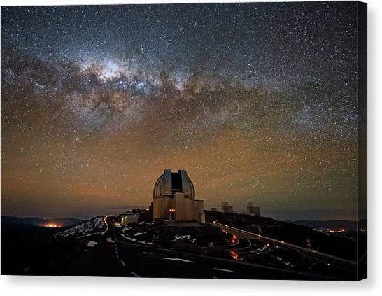 La Galaxy Canvas Print - Milky Way Over The Mpg Eso Telescope by Eso/jose Francisco Salgado (josefrancisco.org)