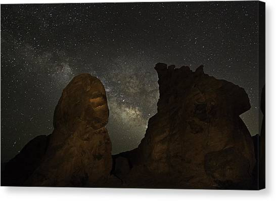 Milky Way Over The Seven Sisters 3 Canvas Print