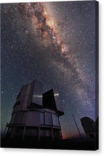 Atacama Desert Canvas Print - Milky Way Over The Very Large Telescope by Babak Tafreshi