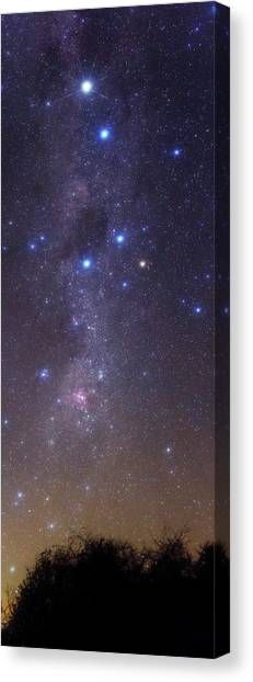 Argentinian Canvas Print - Milky Way Stars And Nebulae by Luis Argerich