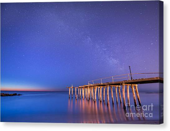 Milky Way Sunrise Canvas Print
