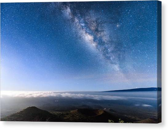 Milky Way Suspended Above Mauna Loa 2 Canvas Print